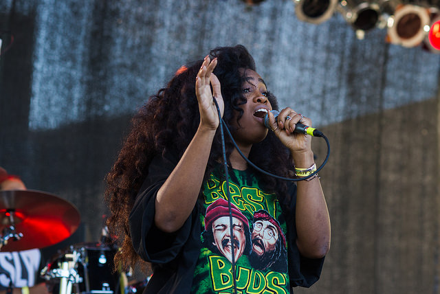 SZA Performing on Stage