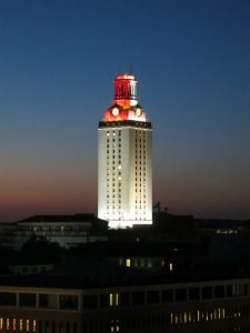 UT Tower at Night