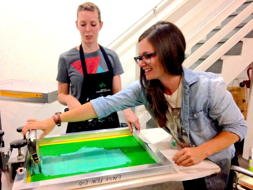 LeafDistrict Screen printing workshop