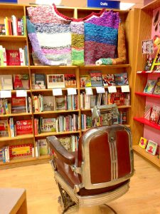 BookPeople Craft Section with Barber Chair