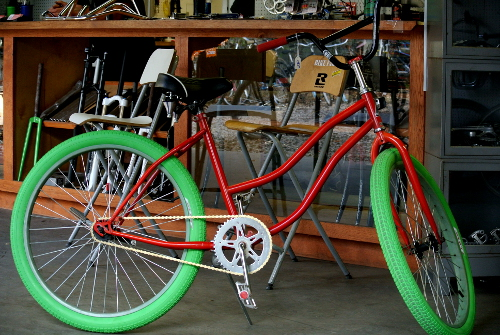 Christmas themed cruiser at Austin Bike Farm