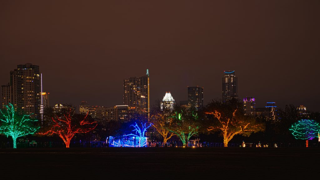 Trail of Lights Upon Austin Skyline