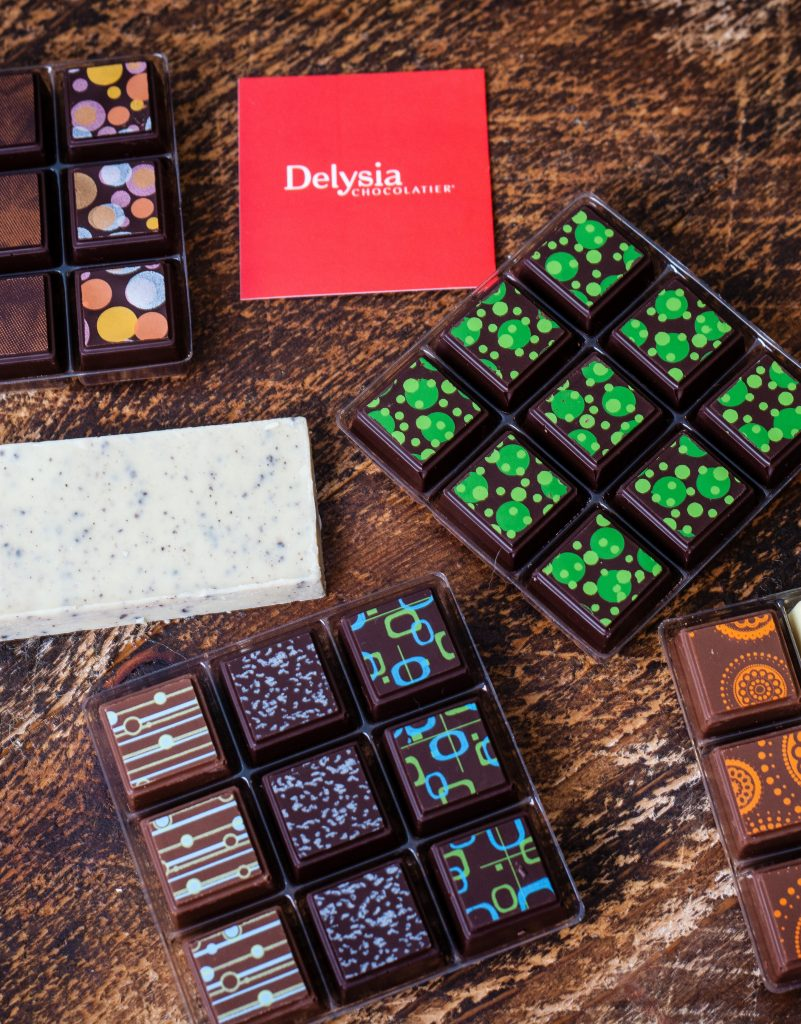 Delysia Chocolatier Chocolates, Made in Austin