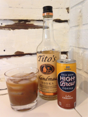 High Brew Cocktail with Tito's