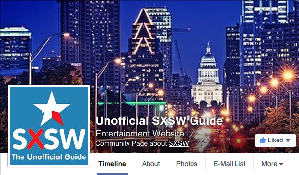 Unofficial SXSW Guide Facebook Page
