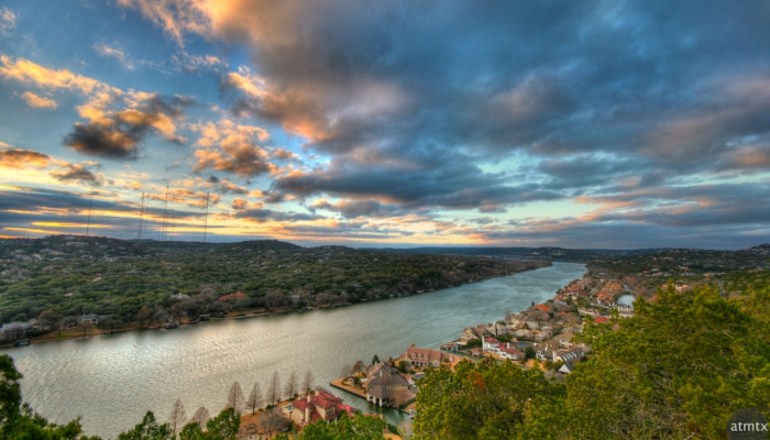 View from Mount Bonnell in Austin