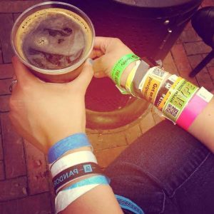 Tons of SXSW Wristbands