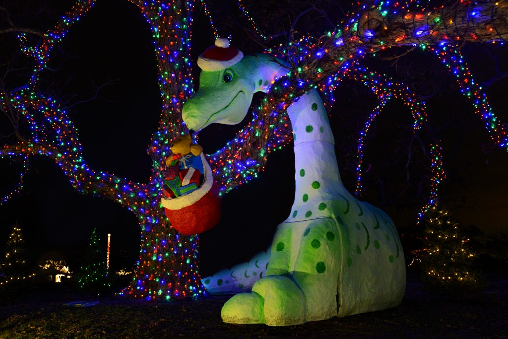 Santa Saurus at Trail of Lights 2014