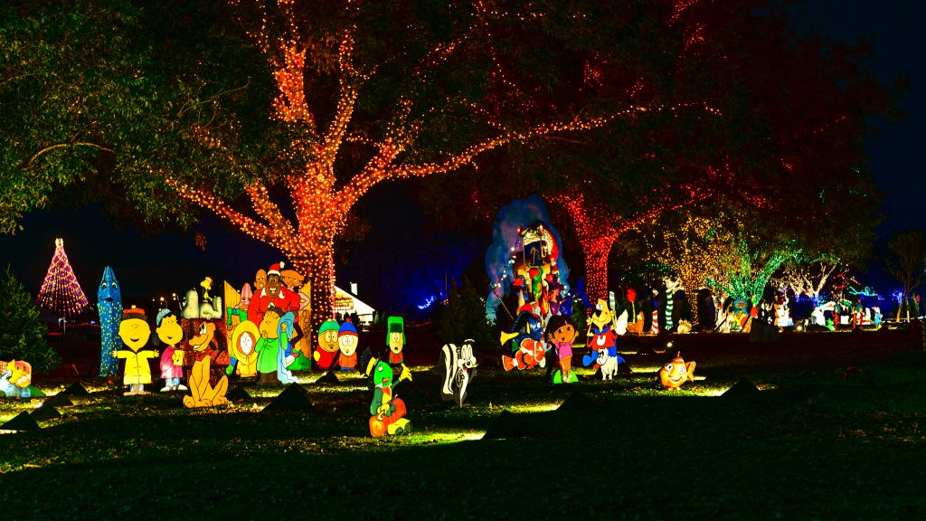 Trail of Lights Cartoon Land