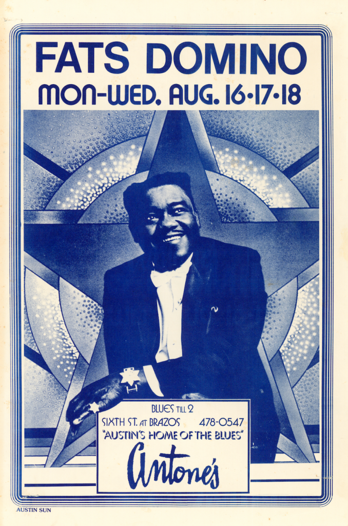 Fats Domino Austin Music Poster