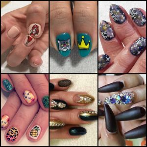 Collage Of Austin Nail Art