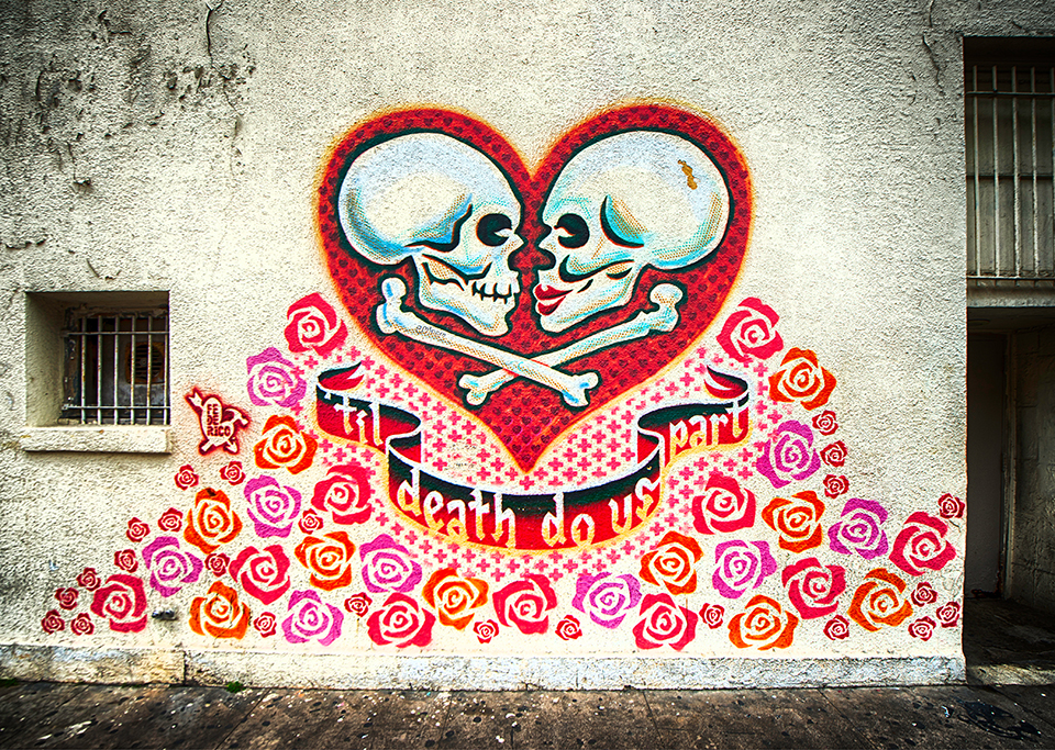Til Death Do Us Part Street Art & Behind the Paint Cans: Austin Street Art