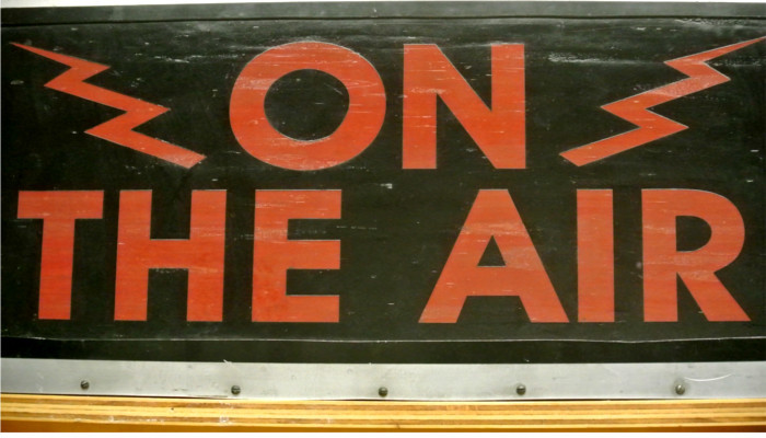KOOP FM On the Air Sign