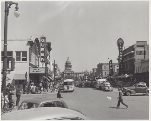 Old Congress Avenue with Paramount Theatre
