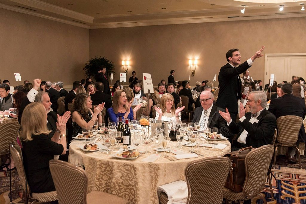 Wind and Food Foundation of Texas Bidding Auction Table