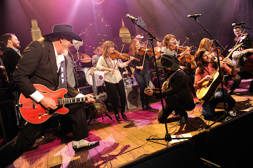 Asleep at the Wheel, the Quebe Sisters, Amos Lee, and Avett Brothers at ACL Taping