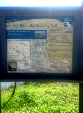 Lady Bird Lake Paddling Trail Map