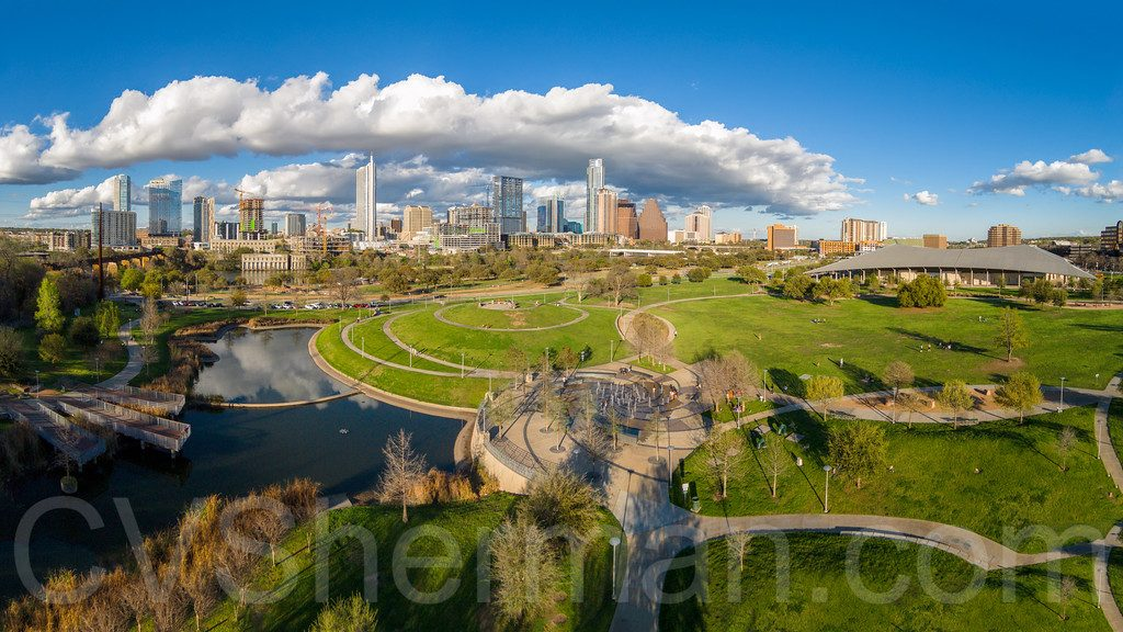 Aerial Photo of Downtown Austin TX