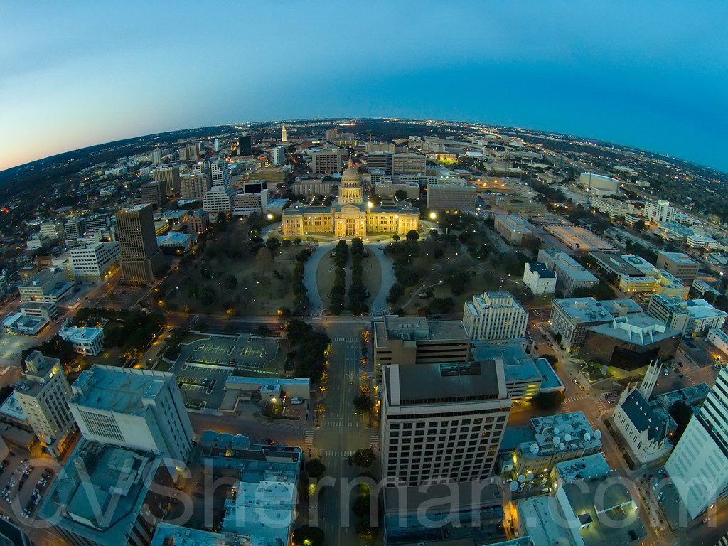 Drone Photo of Texas State Capitol Grounds