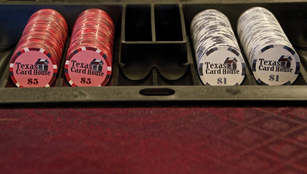 Poker Chips at Texas Card House