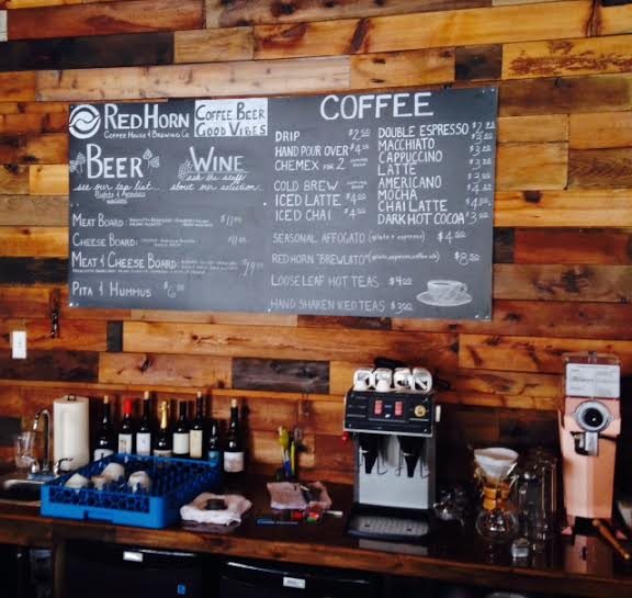 Menu at Red Horn Coffee House and Brewing Company