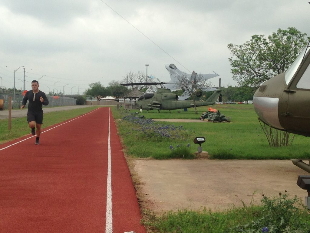 Runner on Camp Mabry track