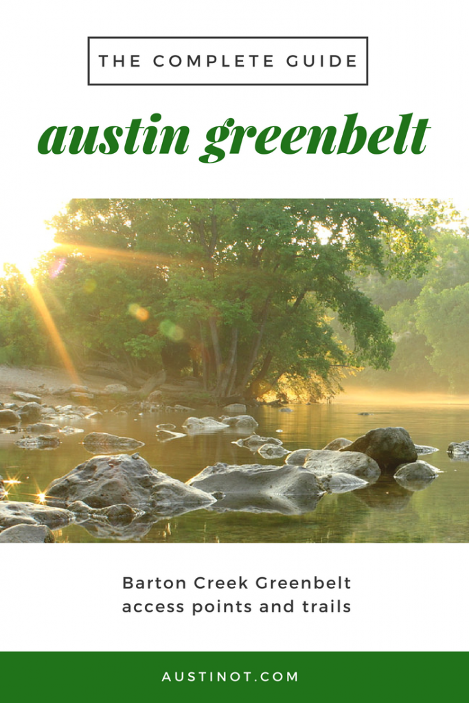 Barton Creek Greenbelt Access Points
