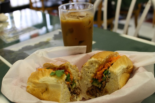 Chargrilled pork Bahn Mi from Tam Deli