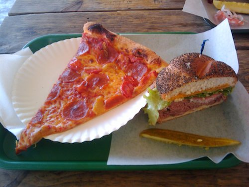 Pizza and Sandwich at Little Deli