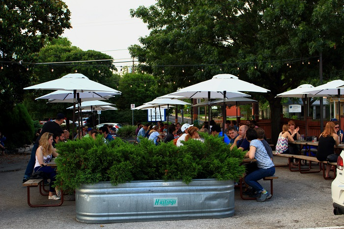 Beer Garden at Draught House Pub in Austin