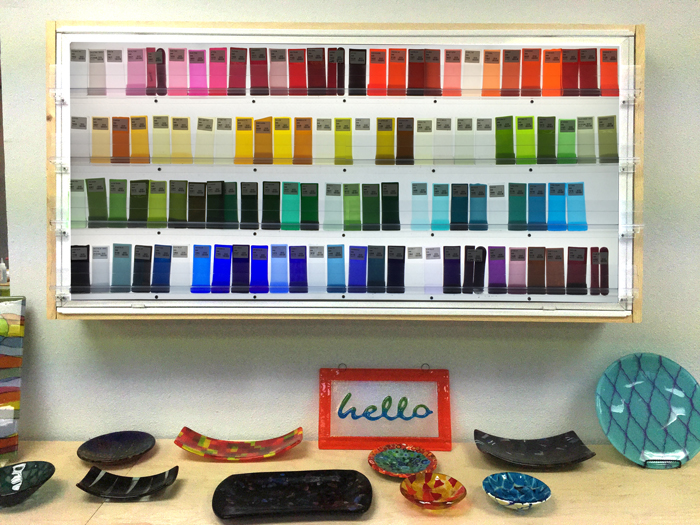 Helios glass samples in Austin