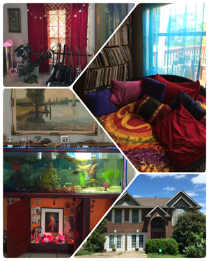collage of the music home