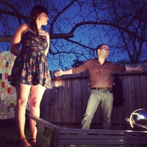 Meg Mattingly and John Brewster Backyard Story Night