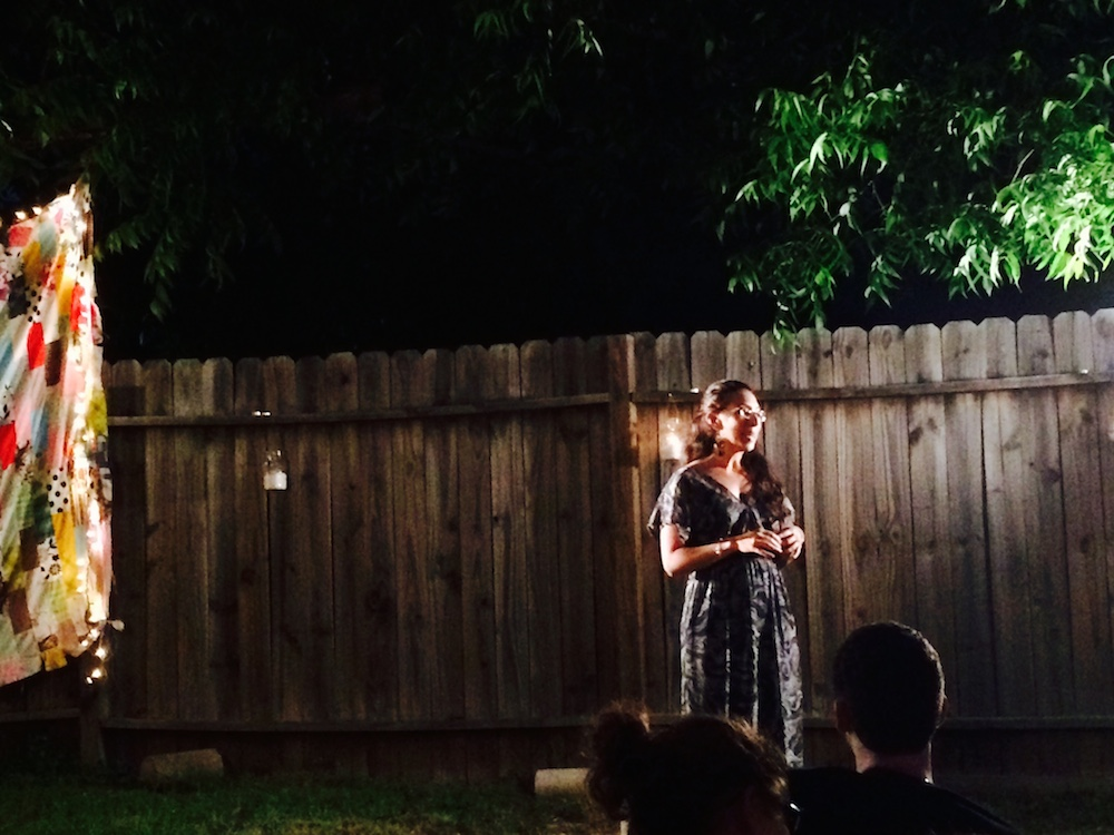 Jessica Pino Backyard Story Night Austin