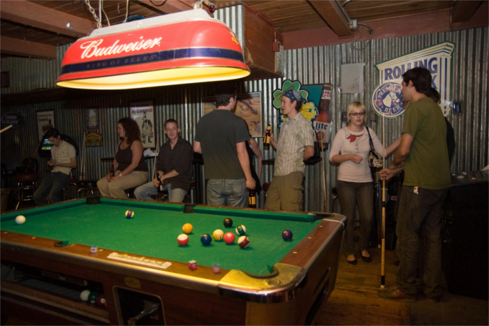 Pool Table at Barfly's in Austin