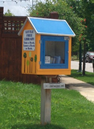 Little Free Library in Mueller subdivision of Austin