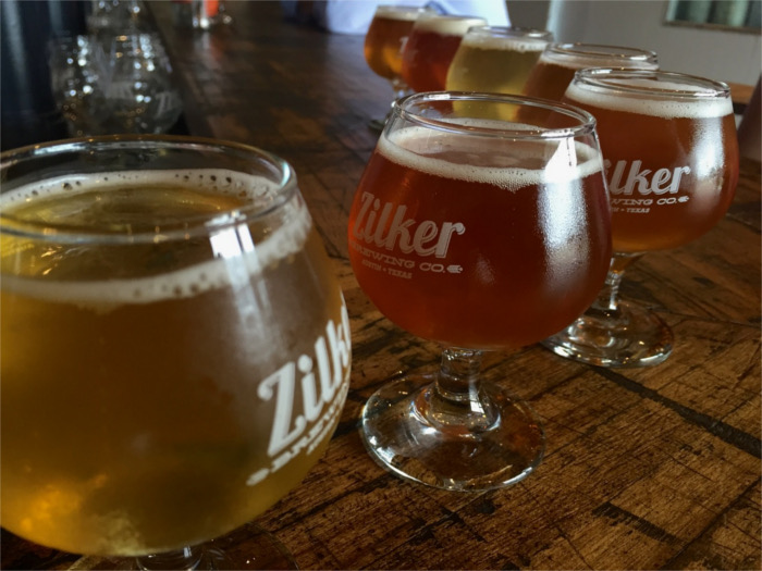 Zilker Brewing Company beer flight