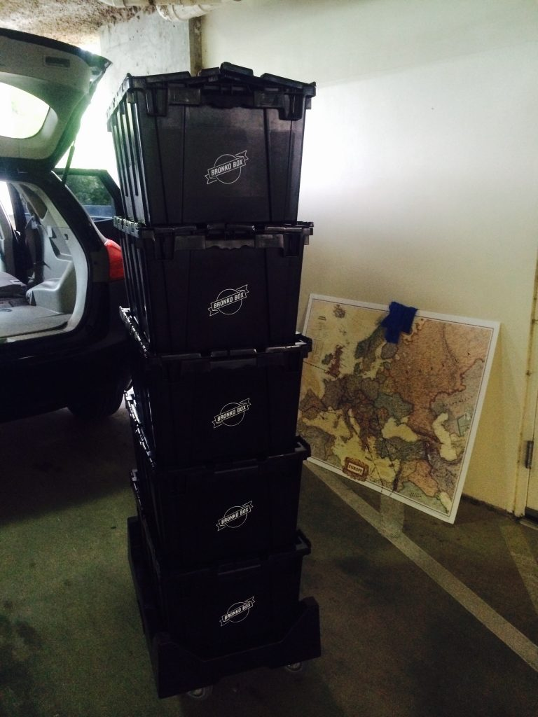 Bronko Boxes Stacked Together