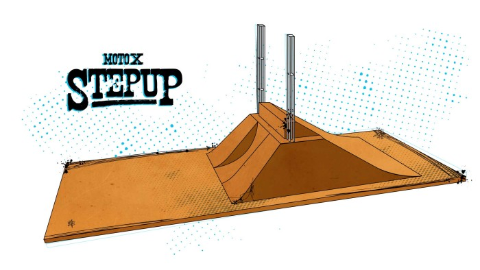 Diagram of Moto X Step Up event for X Games