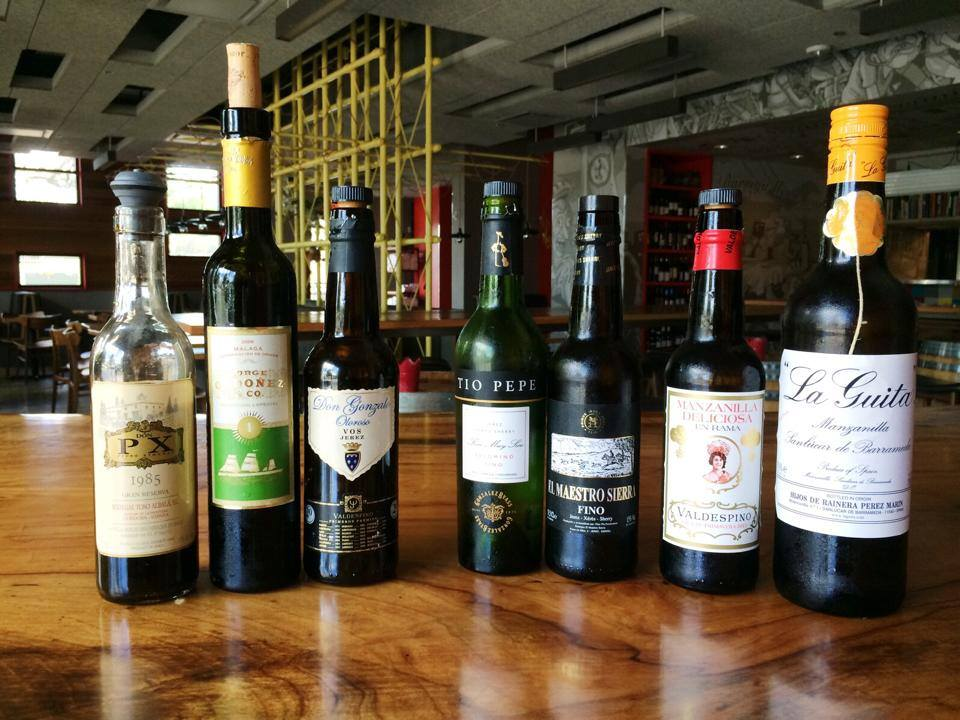 Sherry selection at Barlata Austin