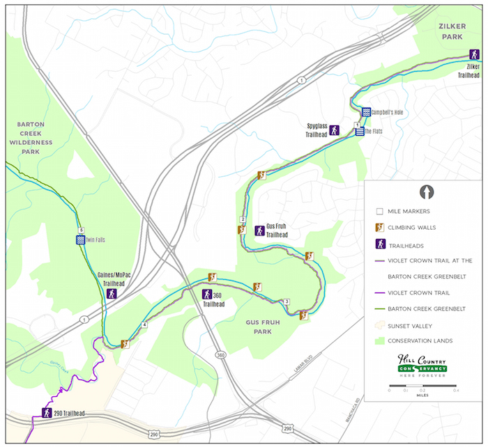 Step by Step Guide to Long Antited Violet Crown Trail Zilker Park Trail Map on