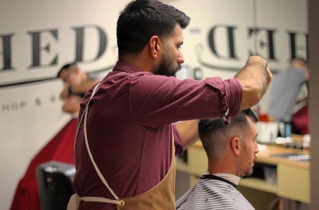 Haircut at SHED Barbershop in Austin