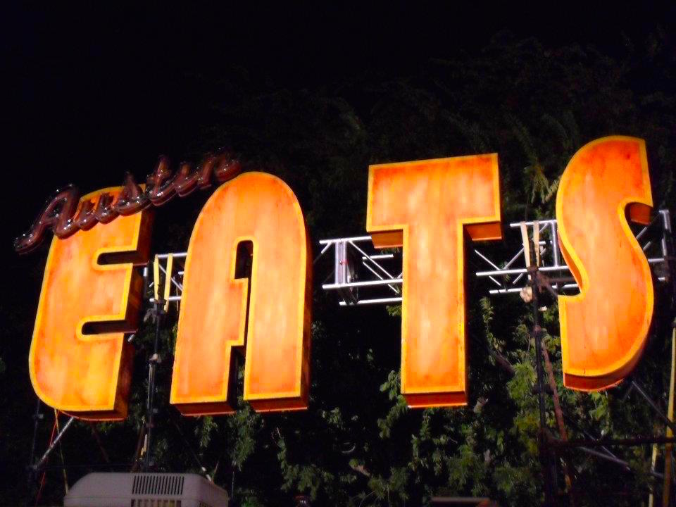 Austin Eats Sign at ACL Music Fest