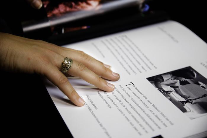 Open page of Weeva keepsake book