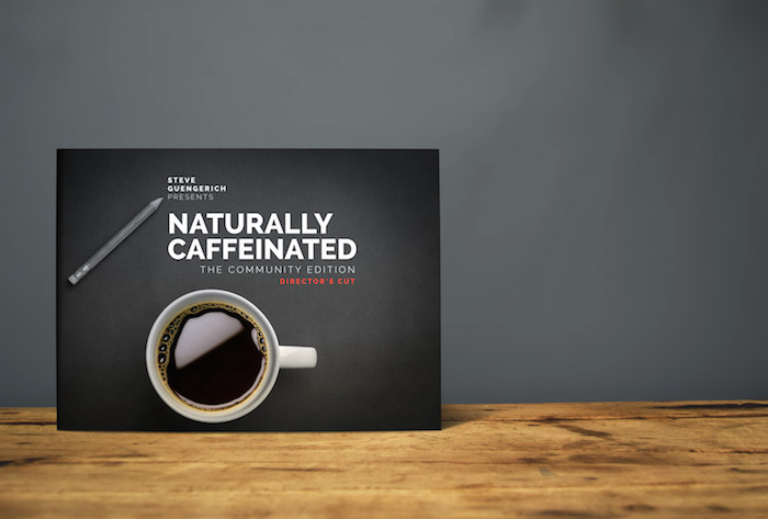 "Coffee table book titled ""Naturally Caffeinated"""