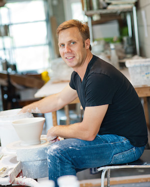 Potter Keith Kreeger in Austin studio