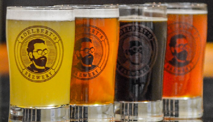 Adelbert's Brewery Beer in Glasses