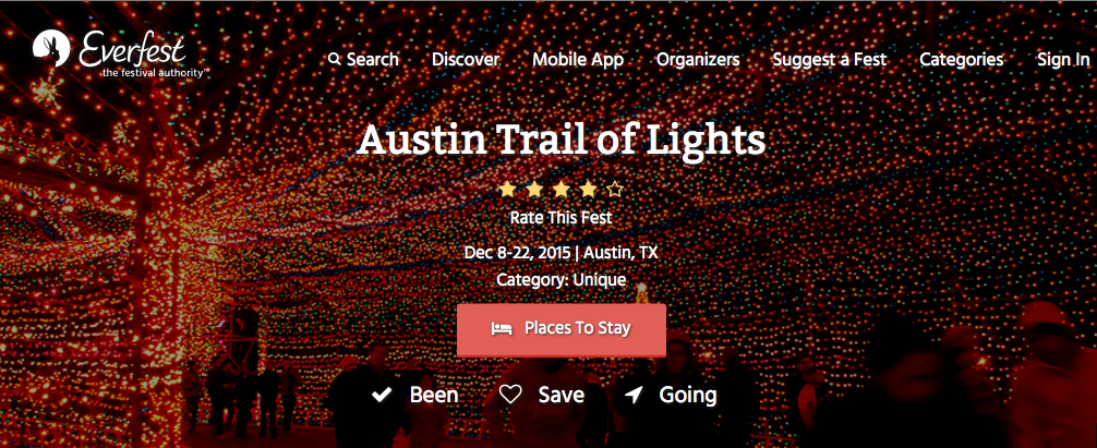 Everfest Trail of Lights Listing