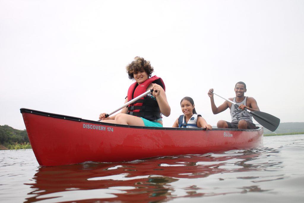 Austin Sunshine Camps Canoe Ride