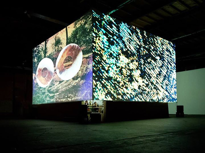Monkey Town Cube With Video Projection
